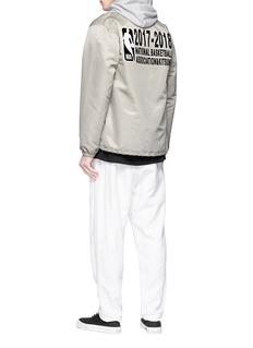 Maison Kitsuné x NBA logo print sateen coach jacket