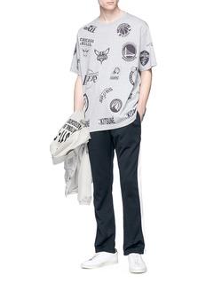 Maison Kitsuné x NBA mixed logo print T-shirt