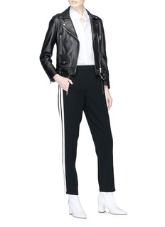 rag & bone 'Milo' zip cuff stripe outseam track pants