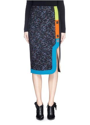 Main View - Click To Enlarge - Peter Pilotto - 'Ludo' pinball stripe tweed bouclé skirt