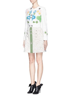 PETER PILOTTO'Counter' playing piece embroidery dress