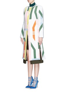 PETER PILOTTO'Track' abstract stripe knit coat
