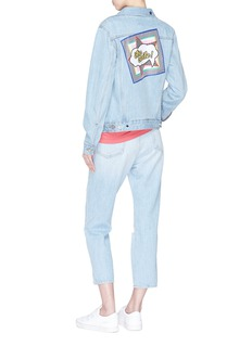 Etre Cecile  Logo handkerchief patch denim jacket