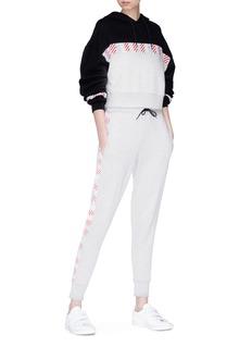 Etre Cecile  Graphic stripe colourblock hoodie