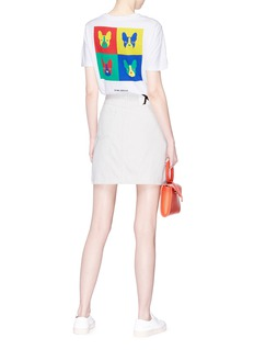 Etre Cecile  'Pop Heart' French bulldog collage print T-shirt