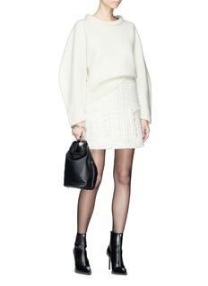 Alexander Wang  Deconstructed tweed A-line skirt