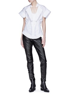 Alexander Wang  Pintuck deconstructed poplin shirt
