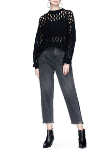 Alexander Wang  Fishnet wool blend sweater