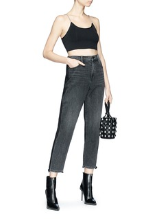 Alexander Wang  Cropped panelled jeans