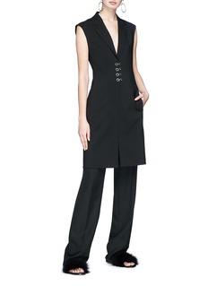 Alexander Wang  Hook-and-eye long wool blend suiting vest