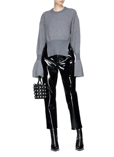 Alexander Wang  Flared cuff rib knit sweater
