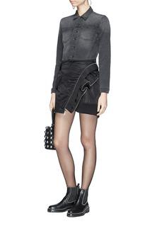 Alexander Wang  Deconstructed mock bomber jacket wrap skirt