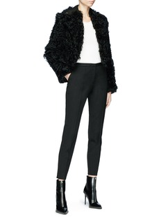 Alexander Wang  Lambskin shearling cropped leather jacket
