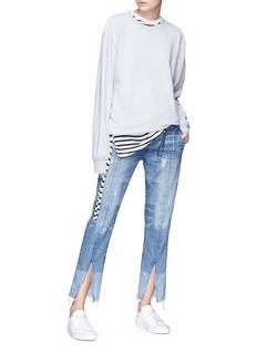 Tortoise 'Harlona' split cuff cropped straight leg jeans