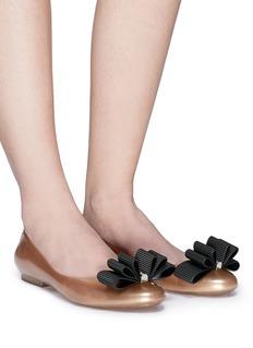 Melissa x Jason Wu 'Doll Fem' ribbon PVC ballerina flats
