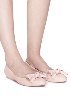 Melissa 'Doll Fem II' bow PVC ballerina flats