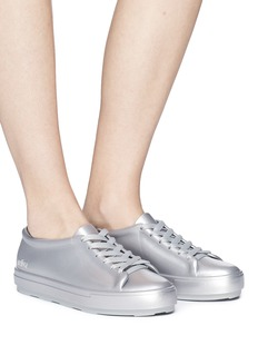 Melissa 'Be Shine' metallic PVC lace-up sneakers