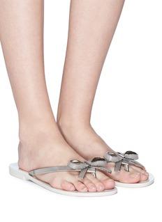 Melissa 'Harmonic Chrome II' PVC flip flops