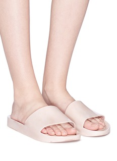Melissa 'Beach Slide' flocked PVC slides