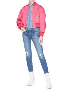 rag & bone/JEAN 'Ankle Dre' paint splatter skinny boyfriend jeans