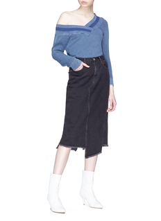 rag & bone/JEAN 'Sukato' asymmetric spilt hem denim skirt