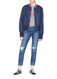 rag & bone/JEAN 'Ankle Dre' distressed cropped skinny jeans