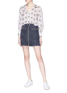 rag & bone/JEAN 'Isabel' zip front denim skirt