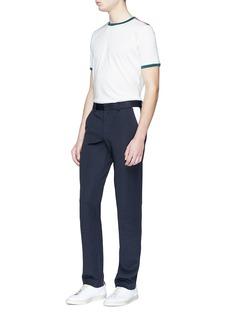 8ON8 拼色条纹纯棉T恤
