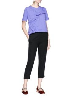 Marni Ruffle cotton T-shirt