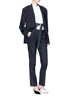 Tibi Harness belted virgin wool suiting pants