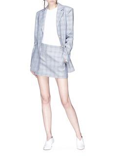 Tibi 'Cooper' cutout wool-silk houndstooth check plaid blazer