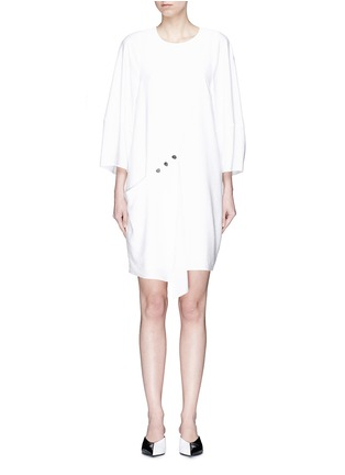 Main View - Click To Enlarge - Tibi - Asymmetric snap panel dress