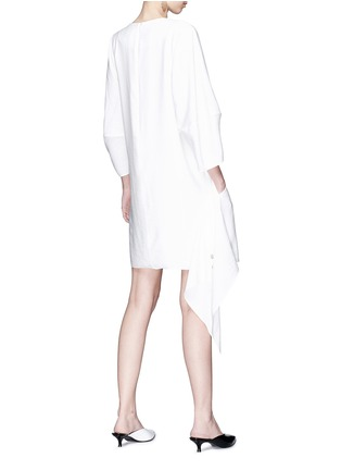 Figure View - Click To Enlarge - Tibi - Asymmetric snap panel dress
