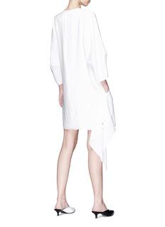Tibi Asymmetric snap panel dress