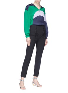 Tibi Colourblock half-zip hoodie