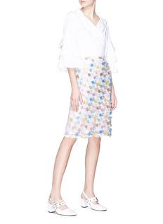 Jourden Fringe organza pencil skirt