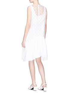 Jourden Dot mesh overlay poplin tunic dress
