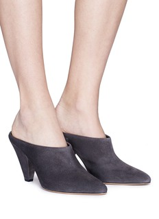 Vince 'Emberly' cone heel suede mules