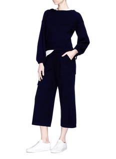 Vince Drawstring wool-cashmere knit culottes