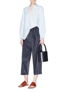 Vince Belted crossover front satin culottes