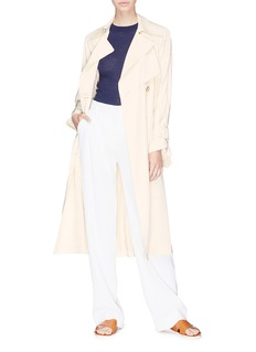 Vince 'Drapey' belted satin trench coat