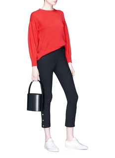 Vince Pleated sleeve cashmere sweater