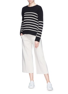 Vince Pintucked jersey culottes