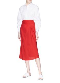 Vince Gathered waist gauze skirt