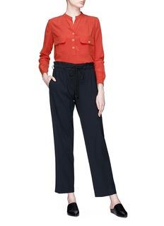 Vince Silk crepe utility blouse