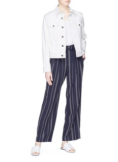 Vince Belted stripe silk pants