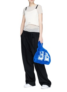 Simonetta Ravizza 'Furrissima' number print mink fur sac bag