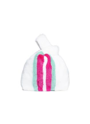 Main View - Click To Enlarge - Simonetta Ravizza - 'Furrissima' stripe mink fur sac bag