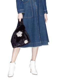 Simonetta Ravizza 'Furrissima' crystal embellished mink fur sac bag