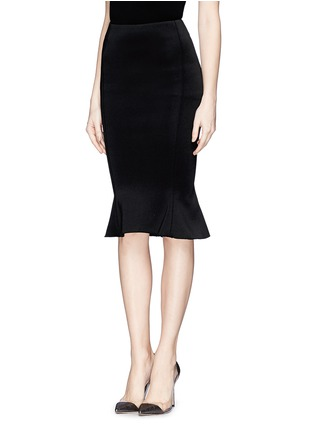 Front View - Click To Enlarge - Comme Moi - Scuba jersey fishtail midi skirt